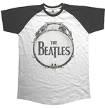 The Beatles Men's Raglan Tee: Original Vintage Drum