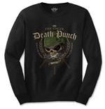 Five Finger Death Punch Men's Long Sleeved Tee: Warhead