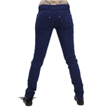 Blue Leopard Design Trousers