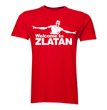 Zlatan Ibrahimovic Welcome to Manchester T-shirt (Red)