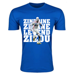 Zinedine Zidane France Legend T-Shirt (Blue) - Kids