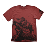 GEARS OF WAR 4 Men's Fenix T-Shirt, Large, Dark Red