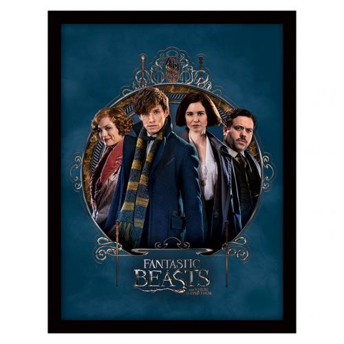 Fantastic Beasts Framed Print Group 16 x 12