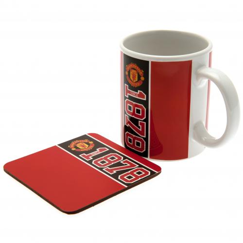 Manchester United F.C. Mug & Coaster Set
