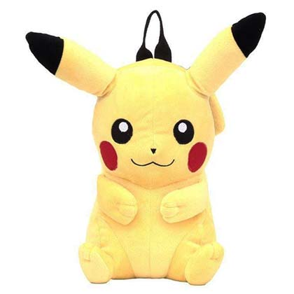POKEMON Pikachu Plush Backpack