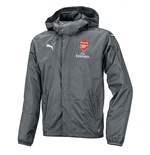 2016-2017 Arsenal Puma Lightweight Rain Jacket (Grey) - Kids