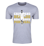 Cristiano Ronaldo Real Madrid T-Shirt (Grey) - Kids