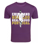Cristiano Ronaldo Real Madrid T-Shirt (Purple) - Kids