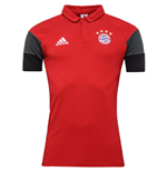2016-2017 Bayern Munich Adidas Polo Shirt (Red)