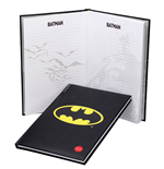 DC Comics XL Notebook with Light Batman Logo