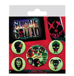 Suicide Squad Badge Set - Skulls