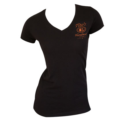 TITO'S VODKA Women's V Neck Tee Shirt