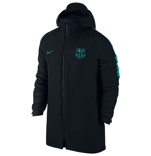 sale retailer 4da19 c38d3 2016-2017 Barcelona Nike Hooded Stadium Jacket (Black-Energy)