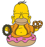 Simpsons Vinyl Figure Homer Buddha 8 cm