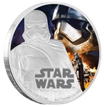Star Wars Episode VII 1 Oz Silver Coin Captain Phasma