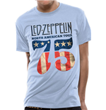 Led Zeppelin - Us 75 - Unisex T-shirt Blue
