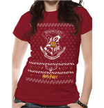 Harry Potter - Xmas Crest - Unisex T-shirt Red