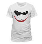 Batman - Joker Smile Outline - Unisex T-shirt White