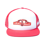 FALLOUT 4 Nuka World Trucker Baseball Cap, One Size, White and Red
