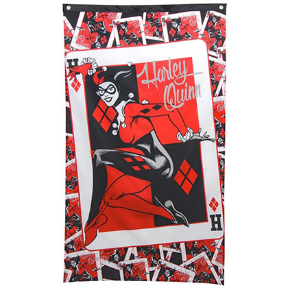 HARLEY QUINN Queen Of Hearts Banner