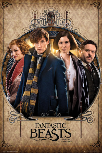 Fantastic Beasts Group Frame Maxi Poster