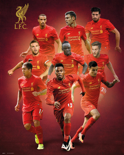 LIVERPOOL Players 16/17 Mini Poster