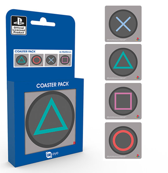 Playstation Buttons Coaster Box