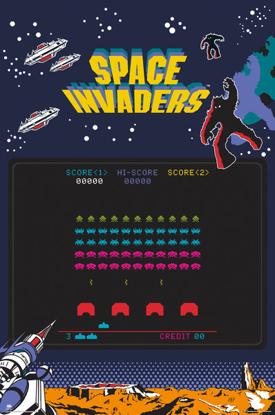 SPACE INVADERS Screen Maxi Poster