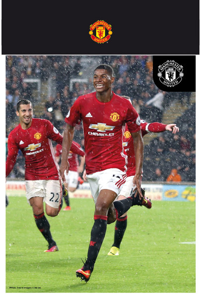 "MANCHESTER UNITED Rashford 16/17 10"" x 8"" Bagged Photographic"