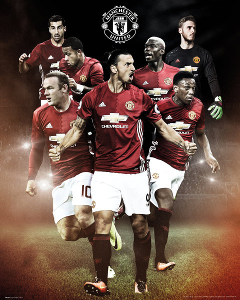 MANCHESTER UNITED Players 16/17 Mini Poster