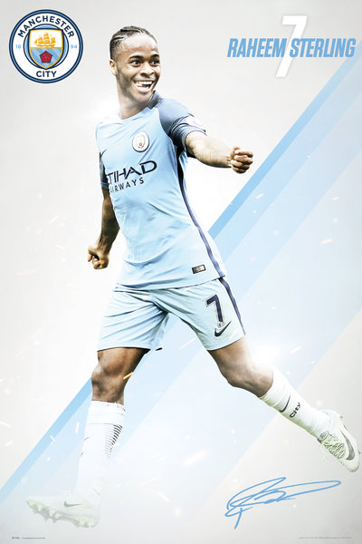 MANCHESTER CITY Sterling 16/17 Maxi Poster