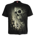 Waxed Skull - T-Shirt Black