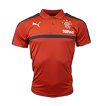 2016-2017 Rangers Puma Leisure Polo Shirt (Chilli Pepper)