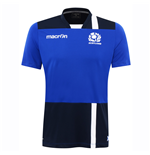 2016-2017 Scotland Macron Rugby Poly Dry Gym T-Shirt (Blue)