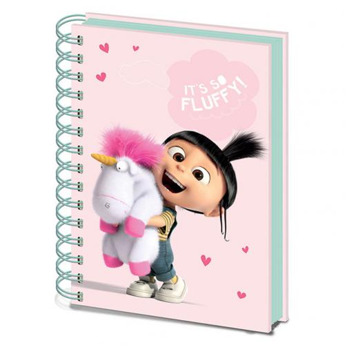 Despicable Me A5 Notebook Fluffy Unicorn