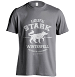 Game of Thrones T-Shirt House Stark Winterfell Direwolf