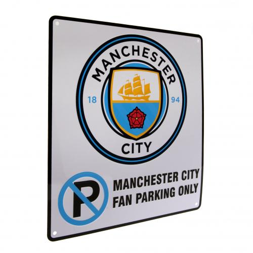 Manchester City F.C. No Parking Sign