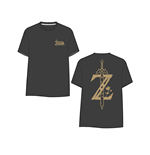 Zelda Breath of the Wild - Golden Game Logo on Back T-shirt