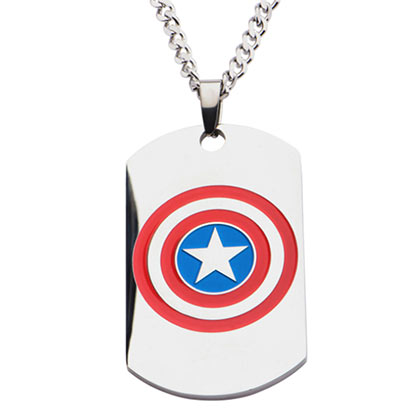 CAPTAIN AMERICA Dog Tag Necklace