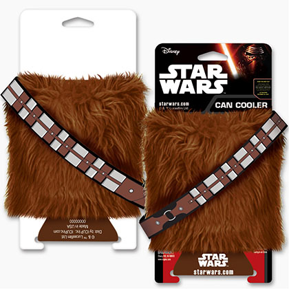 STAR WARS Chewbacca Furry Koozie