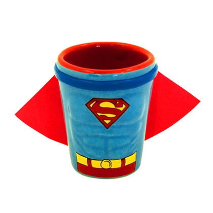 SUPERMAN Costume Caped Shot Glass