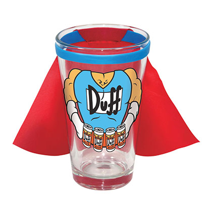 The SIMPSONS Caped Duff Pint Glass