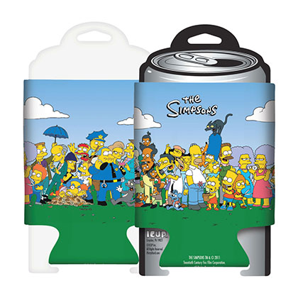 The SIMPSONS Cartoon Cast Koozie