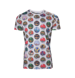 POKEMON Men's All-over Poke Ball Print T-Shirt, Large, Grey