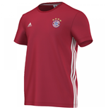 2016-2017 Bayern Munich Adidas 3S Tee (Red)