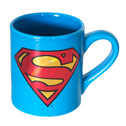 SUPERMAN Foil Logo Coffee Mug