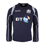 2016-2017 Scotland Macron Rugby Contact Training Top (Navy)