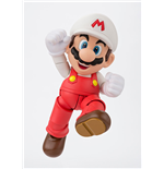 Super Mario Bros. S.H. Figuarts Action Figure Fire Mario Tamashii Web Exclusive 10 cm