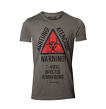 CAPCOM Resident Evil Men's Biohazard Warning T-Shirt, Extra Large, Military Green