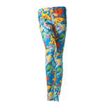 POKEMON Women's All-Over Fighting Pokemon Characters Print Legging, Extra Large, Multi-colour